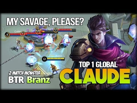 Claude 96.6% WR Current Season with Fastest Hand Control by Branz Top 1 Global Claude - MLBB
