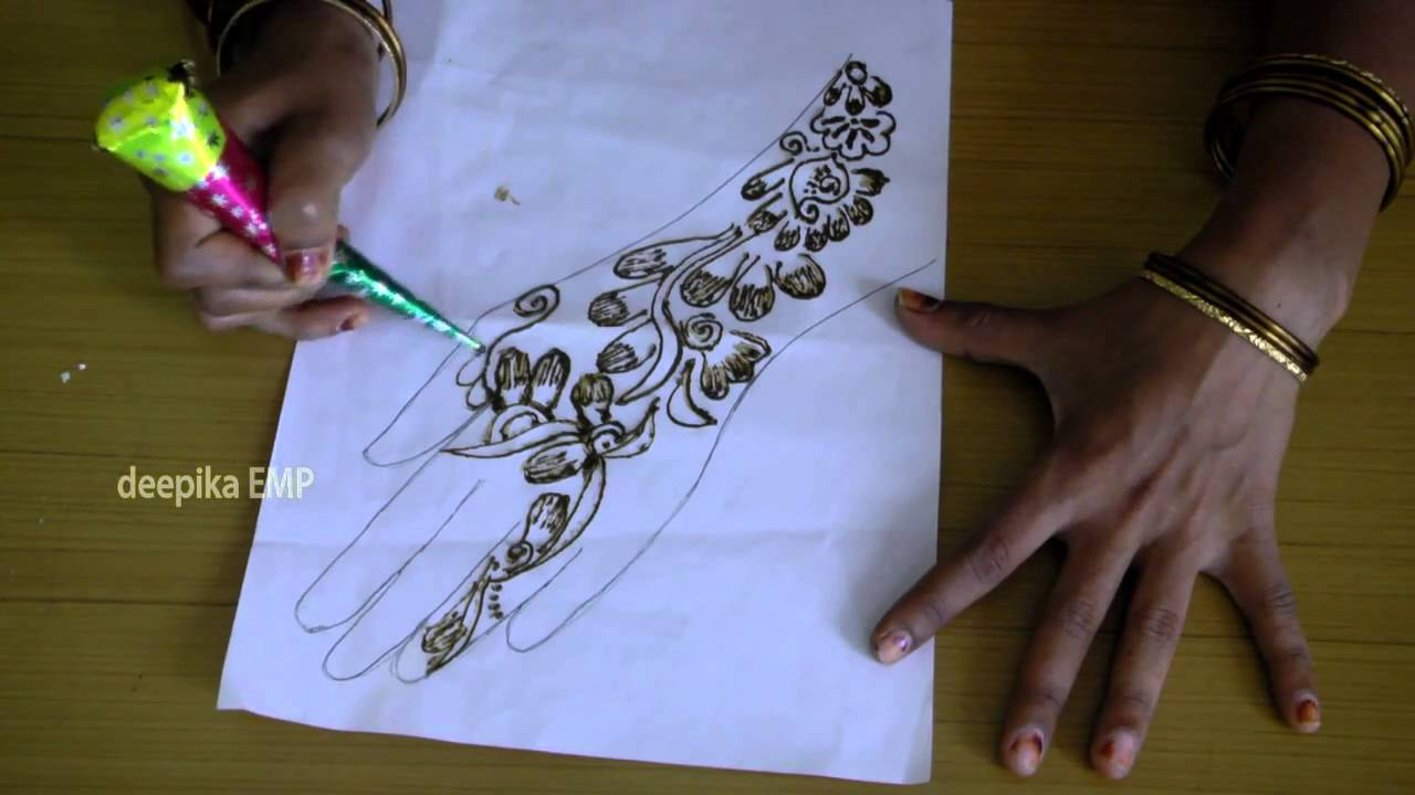 How To Draw Simple Mehndi Designs For Hands Mehandi Arts Paper