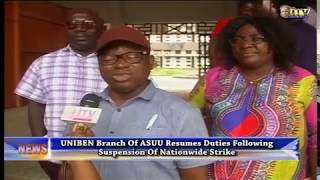 UNIBEN branch of ASUU resumes duties following suspension of nationwide strike