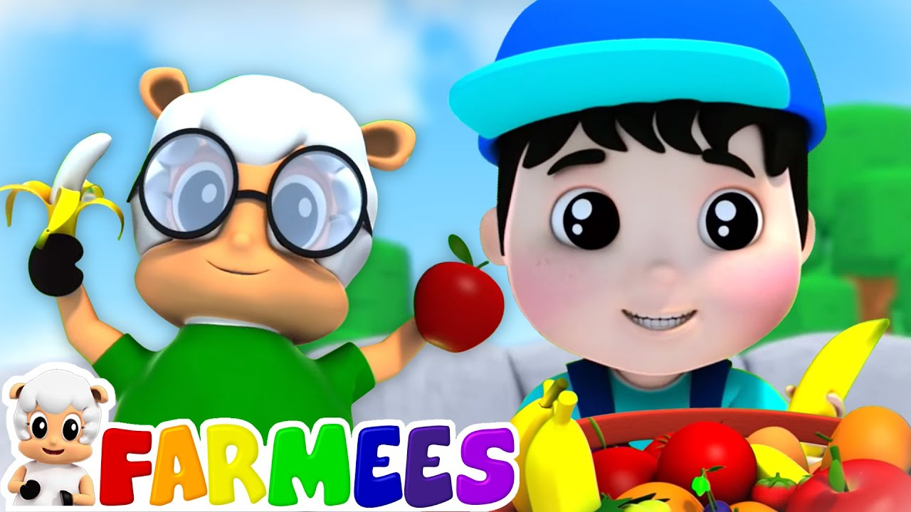 I Like to Eat Apples & Bananas   Learn Vowels   Kids Songs & Rhymes for Babies   Animal Cartoon