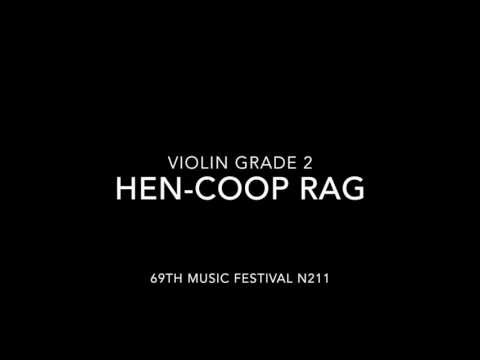 69th Music Festival N211 Violin Solo Grade 2 Hen-coop Rag (without piano accompaniment)