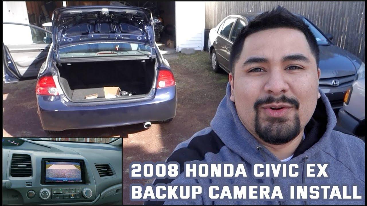 2008 Honda Civic EX Radio Upgrade Steering Wheel Controls Backup Camera Install