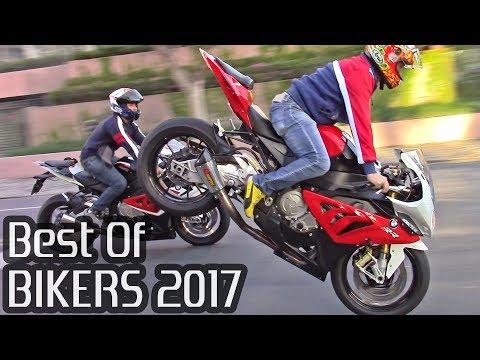 BEST OF BIKERS 2017 - Superbikes on the Streets Wheelies, Burnouts RL & LOUD exhausts!