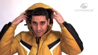 Куртка пуховик зимний мужской горчичного, синего, цвета хака 9440