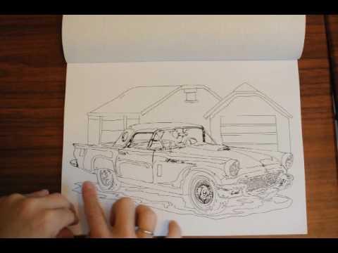 Muscle Cars Coloring Book for Dudes - YouTube