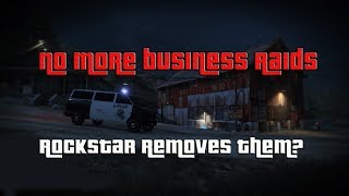 GTA Rockstar Disables MC and Bunker raid missions