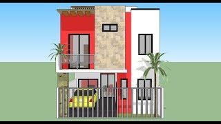 Casa en terreno 6x15 mts by arqui bites watch and free for Casa moderna minimalista interior 6m x 12 50m