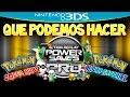 QUE SE PUEDE HACER Y QUE NO CON EL POWERSAVE EN POKEMON [3DS]