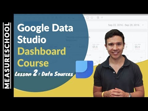 Combine Data Sources in Google Data Studio | Lesson 2
