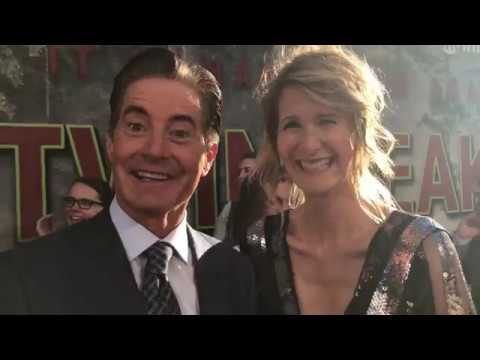 Kyle MacLachlan and Laura Dern chat top secret 'Twin Peaks' limited series on premiere red carpet