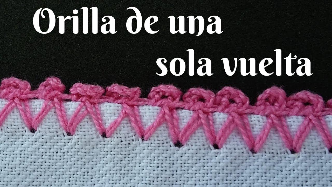 🌸 Como Tejer Orilla de una Sola Vuelta para Servilletas【Súper Fácil 】#102