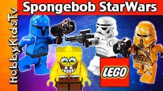 SpongeBob Builds Star Wars LEGO Kits
