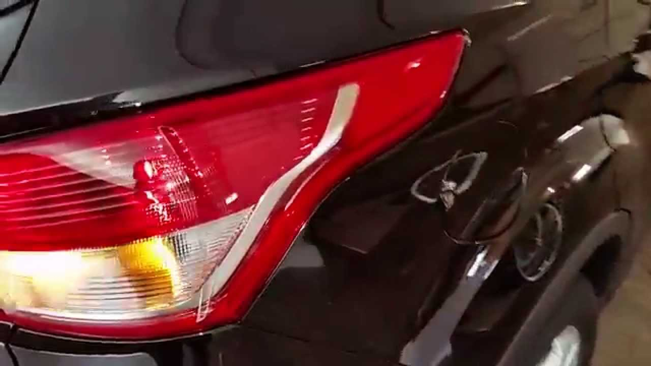 2013 2016 ford escape suv test tail lights after changing bulbs brake turn signal reverse