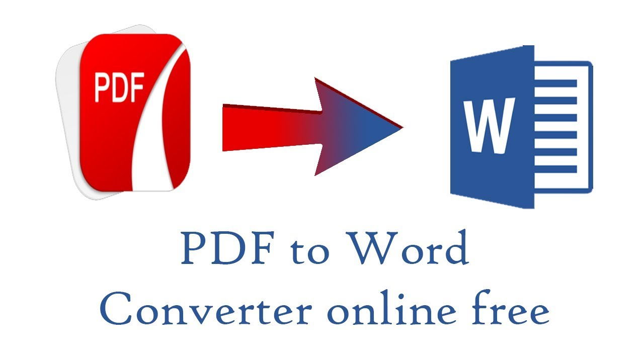 Pdf To Word Converter Online Free Youtube
