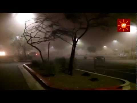 Massive Dust Storm Slams Phoenix Valley - Inside the storm live footage July 2011