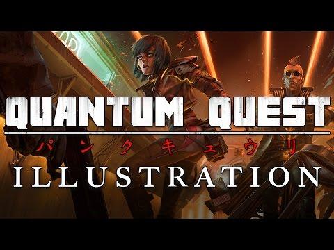 Creating Quantum Quest: Illustration