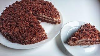 """Шоколадно-сметанный торт """"Поль Робсон"""": рецепт"""