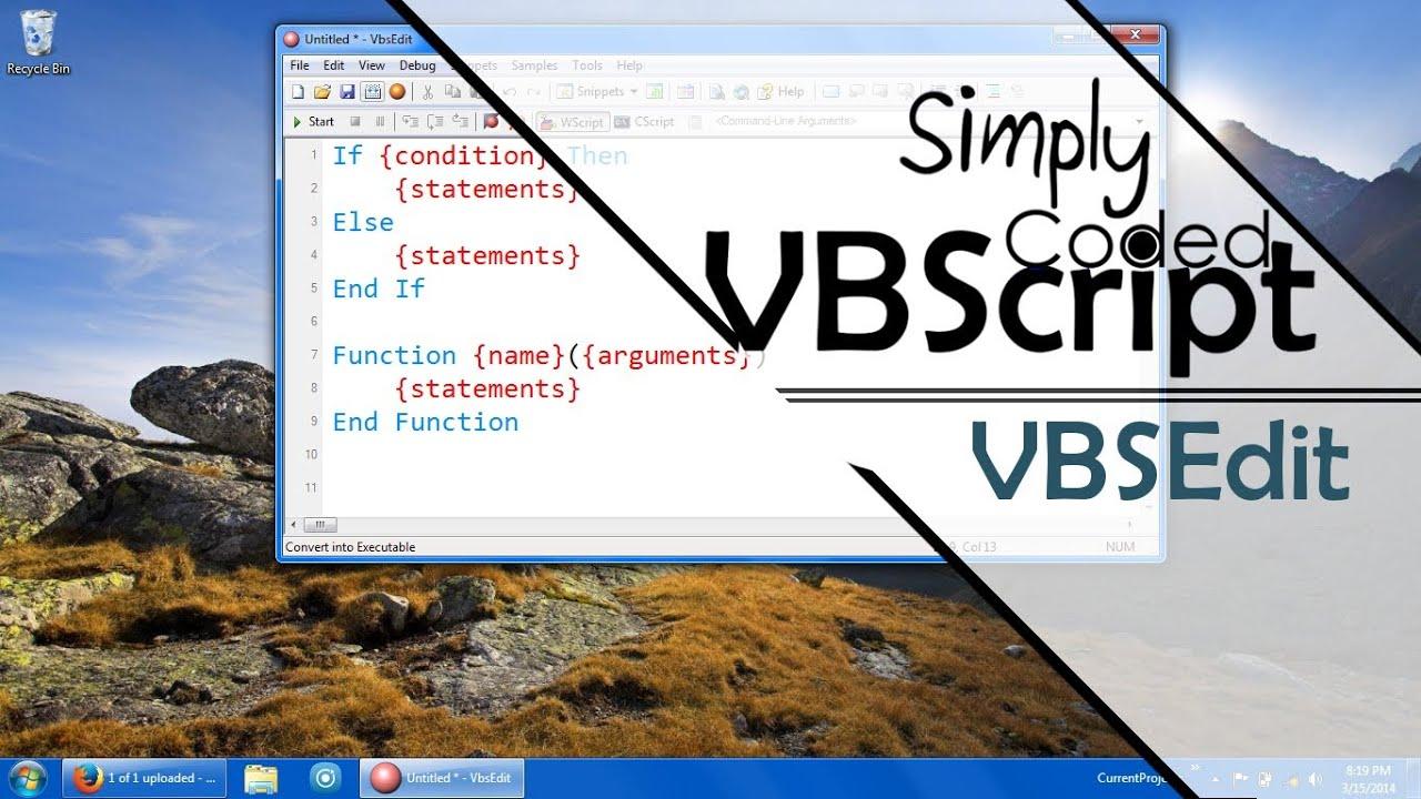 VBScript Editors