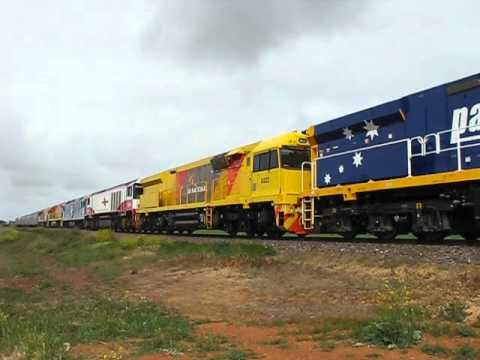 ARA Trans Australia Railway Centenary Train through Nantawarra