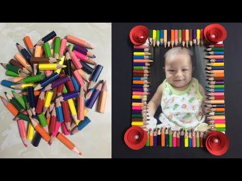 How to Make Photo Frame with Waste Material | Making Paper Photo Frame | DIY-Paper Crafts