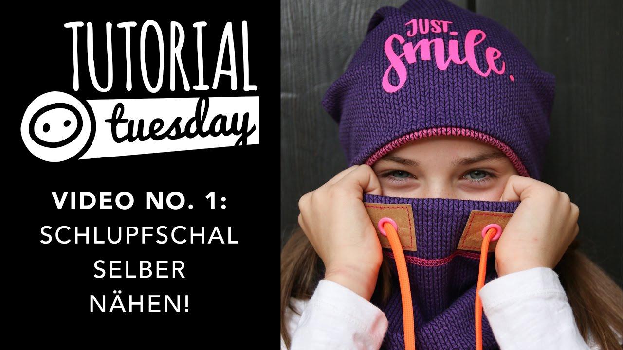 Tutorial Tuesday: Schlupfschal selber nähen - YouTube