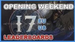 Diablo 3 Season 17 Opening Weekend Leaderboards EU & US