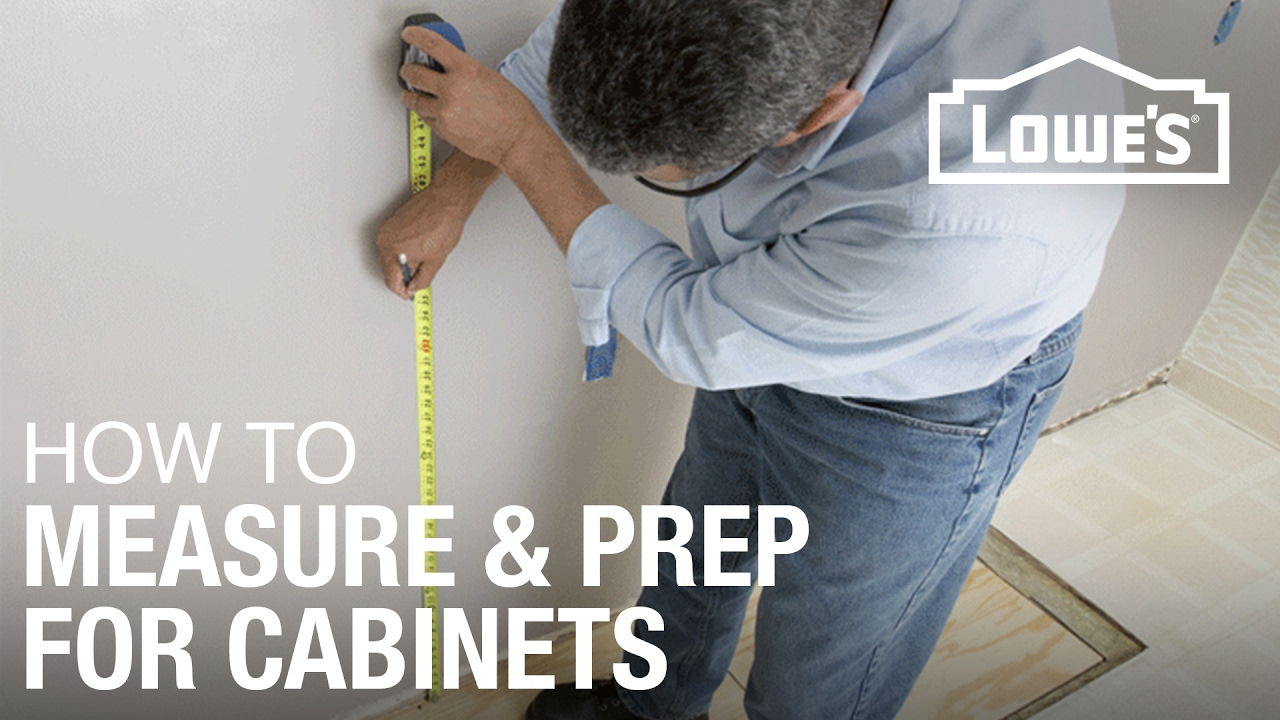 How to install kitchen cabinets prep measure youtube What can i put on my sideboard
