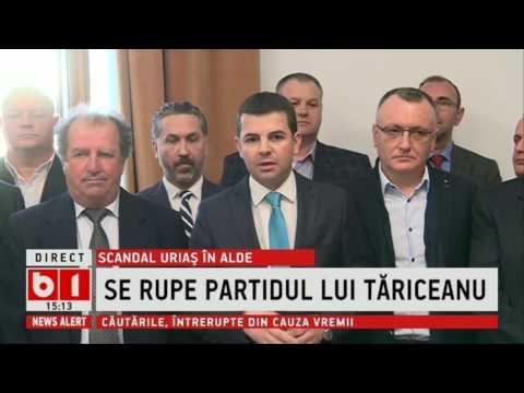 SCANDAL IN ALDE-  SE RUPE PARTIDUL LUI TARICEANU