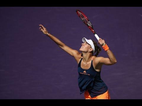 2017 Miami Open Round of 16 | Angelique Kerber vs Risa Ozaki | WTA Highlights