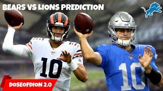 Bears Vs Lions Prediction/Preview! David Blough's DEBUT! Detroit Lions Talk