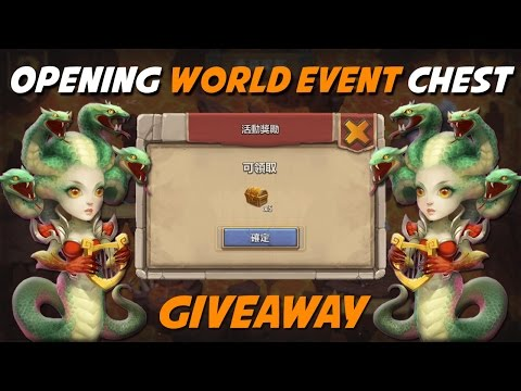 Castle Clash Opening Castle Crisis Chest + Giveaway (Medusa Gameplay)