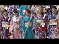 【TNS動画ニュース】E-girlsが晴れ着姿で初詣! 結束力深める1年を誓う