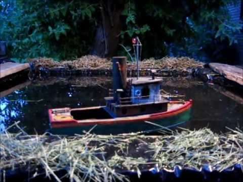 Homemade Model Tug Boat and Putt Putt Toy Steam Engine - YouTube