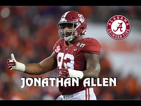 Jonathan Allen || Alabama Career Highlights || 2013 - 2017