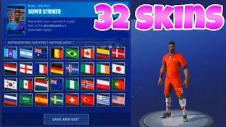 LAND + NUMMER bei WM SKINS ändern!   (Alle 32 Länder)   Fortnite Battle Royale