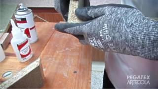 Carpincol express en aerosol para pegar madera de forma inmediata