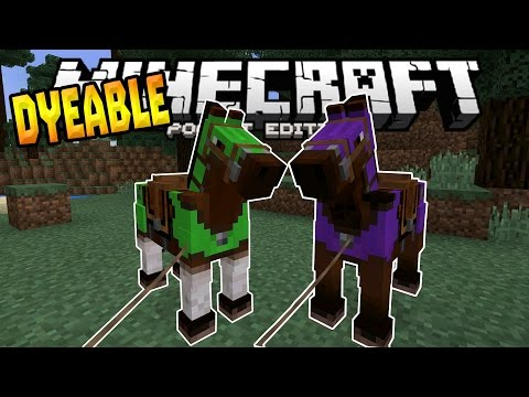 MCPE 0.15.0 HORSE GAMEPLAY!!! - Dyeable Horse Armor - Minecraft PE (Pocket Edition)