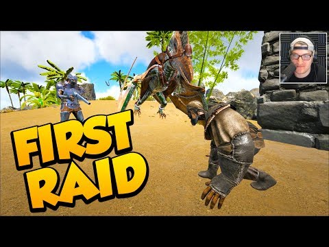 THE FIRST RAID! - Ark Survival Evolved Ragnarok PVP #3