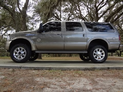 2003 ford excursion 4x4 for sale 7 3 diesel eddie bauer loaded low miles youtube. Black Bedroom Furniture Sets. Home Design Ideas
