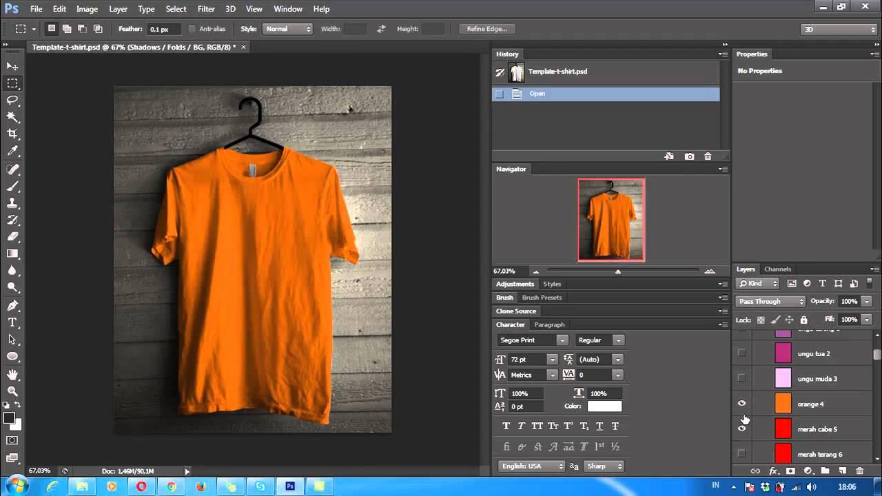970 Koleksi Desain Baju Kaos Polos Psd HD Terbaru