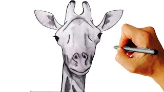 How to draw a giraffe very simple step by step drawing for kids