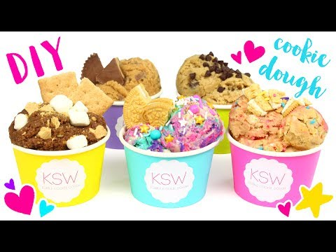 Thumbnail: How to Make FIVE EDIBLE COOKIE DOUGH Recipes! (Unicorn, Funfetti, Nutella, and more)!