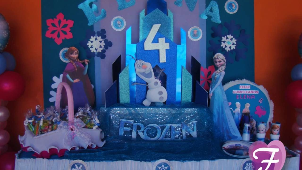 Decoracion cumplea os frozen youtube for Decoracion de puertas para cumpleanos
