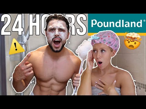 Only Using POUNDLAND PRODUCTS For 24 HOURS | CHALLENGE