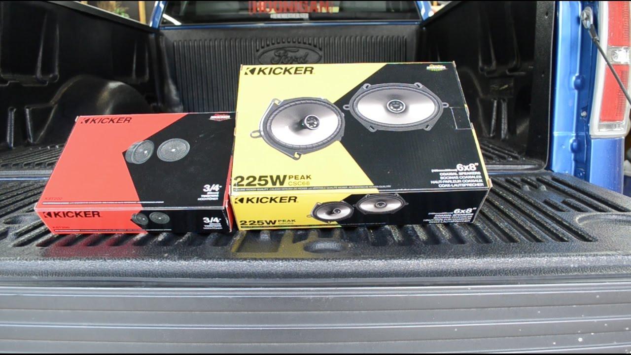 11 14 F150 Supercab Kicker Speaker Install Youtube 2015 Ford F 150 Subwoofer
