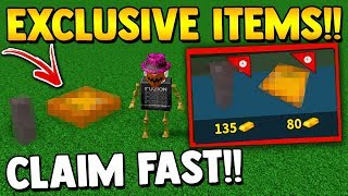 LIMITED TIME ITEMS (claim fast!!) | Build a boat for Treasure ROBLOX
