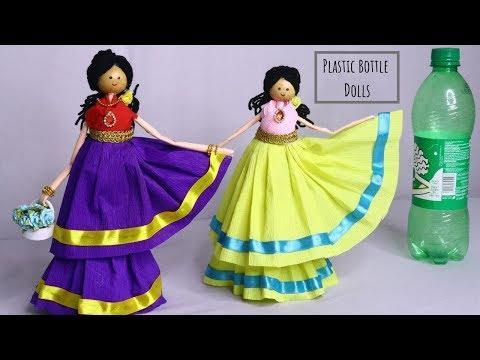 DIY Plastic Bottle doll / Plastic bottle craft ideas By Aloha Crafts