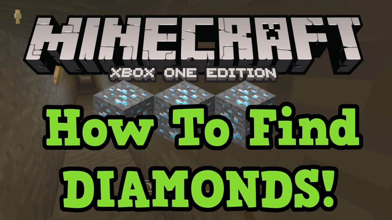 Minecraft Xbox One Ps4 How To Find Diamonds Branch Mining Tutorial Youtube