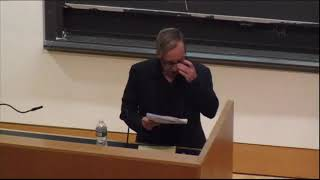 """The Fundamental Philosophy of Alain Badiou,"" lecture by Kenneth Reinhard, UCLA."