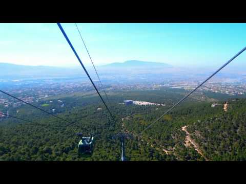 Cable car ride down from Mont Parnes Casino Athens Greece